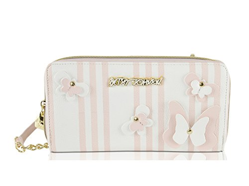 Betsey Johnson , Damen Umhängetasche rosa Blush/ 3-D Butterfly Einheitsgröße (Johnson Umhängetasche Betsey)