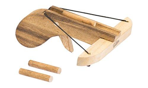 Armbrust super-mini aus Holz für Kinder - Spielzeug inkl. Pfeile (set)