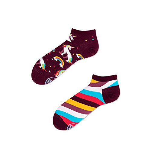 Many Mornings - Verrückte Sneaker Socken - Damen - The Unicorns - Einhorn (39-42)