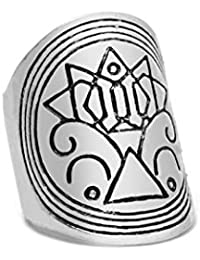 5ec43f5ed313 SonMo 1Pcs Bisuteria Mujer Acero de Tótem Nórdico Boho Celtics Grabado Ancho  de Chapado en Plata