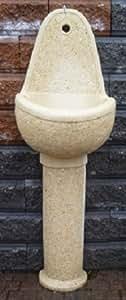 Fontana Stella Martellinata Gialla A Muro Ideal Giardino