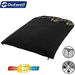 Outwell - Camper Double Sleeping Bag - Mocca Stripe