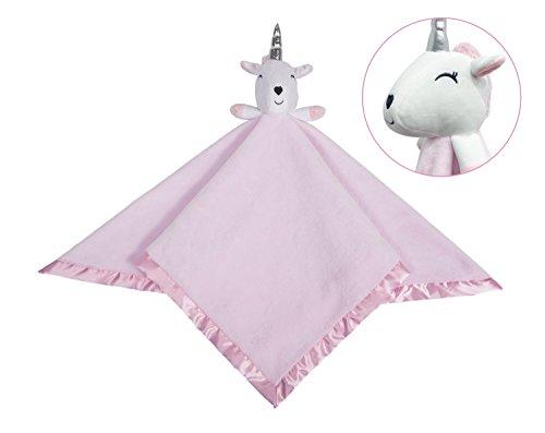 Manta de seguridad de unicornio, de felpa de franela para bebé, gran regalo para niños, 76,2 x 76,2 cm rosa rosa