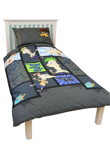 Disney Character World Phineas and Ferb Agent Single Rotary Duvet Set