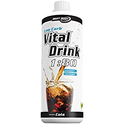 Best Body Nutrition - Low Carb Vital Drink, Cola, 1000 ml Flasche