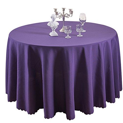 Heheja Nappe de Table Nappe Ronde pour Maison Restaurant Mariage Cérémonie Violet Foncé 120*180cm