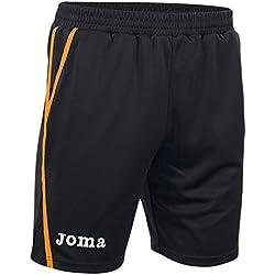 Joma Game - Pantalones cortos unisex, color negro / naranja, talla XS-S