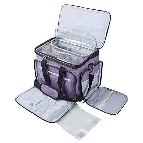 Luxja Stricktasche Aufbewahrung, Garn Tasche für Wolle und Stricken Zubehör