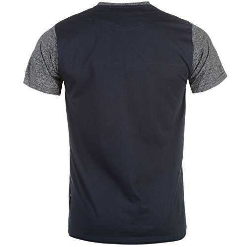 Pierre Cardin Herren T Shirt Kurzarm Rundhals Meliert Besatz Marineblau/Marineblau Meliert