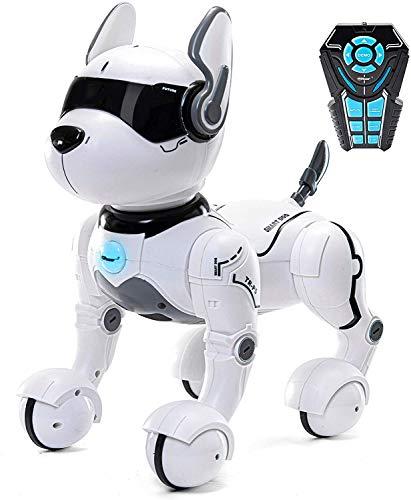 Remote Control Robot Hundespielzeug, Roboter für Kinder ab 2,3,4,5 Jahren, Rc Zoomer Hundespielzeug für Kinder, Smart & Dancing Robot Toy, Imitierte Tiere Mini Pet Dog-nur auf Englisch sprechen -TR-P5