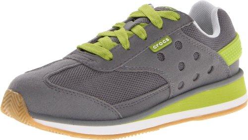 Crocs Crocs Retro Sneaker, Low-top mixte enfant Gris (Smoke/Volt Green)