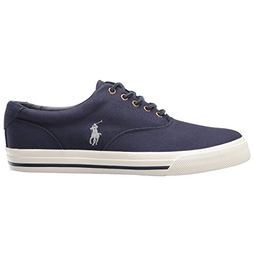 Polo Ralph Lauren VAUGHN Canvas / Tattersall Basket Fashion Sneaker - Newport Navy