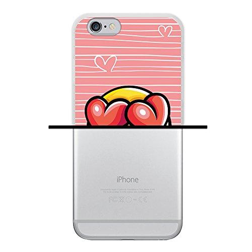 WoowCase Hülle Case für { iPhone 6 6S } Handy Cover Schutzhülle Graffiti Funny Farben Housse Gel iPhone 6 6S Transparent D0396