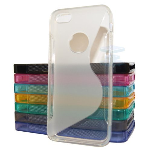 Practical Style Apple Iphone 4 4G 4S Clear Silicone Gel S Line Grip Case Cover For Apple Iphone 4 4G 4S By G4GADGET®