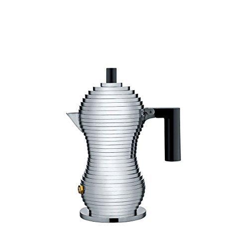 Alessi Cafetera de espresso Pulcina, negro, 70ml