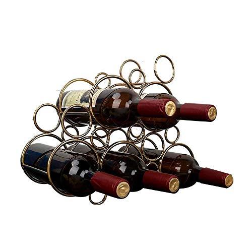 ZHWEI Weinregale Metallflaschen-Weinregale Und Lagerschränke Sicher Und Praktisch