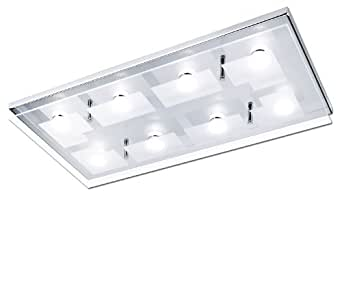 Paul Neuhaus 6107-17 Luminaire de Plafond LED 3,3 W Chrome 54 x 27 x 7 cm