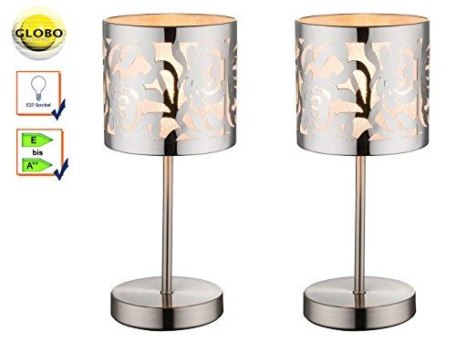 lot-de-2lampe-de-table-lampe-de-chevet-bent-nickel-mat-abat-jour-acier-inoxydable-chrom-avec-dcor-ob