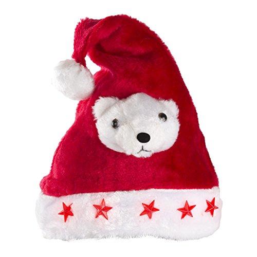 Adventino Superweiche Weihnachtsmütze - große Schick oder Lustig-Auswahl, -