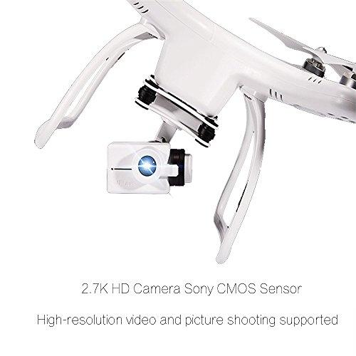 UPair One Quadrocopter Drohne mit 2.7K Full-HD Videokamera 2.4G Fernsteuerung FPV live übertragung,Headless Modus,Höhenhaltung,Home Return -