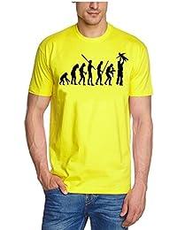 Coole-Fun-T-Shirts Herren T-Shirt Papa Evolution