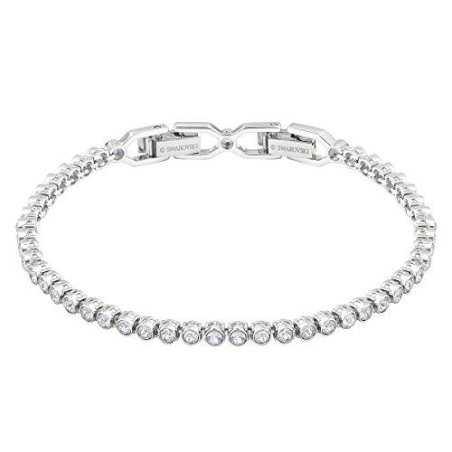 Swarovski braccialetto emily, bianco, placcatura rodio