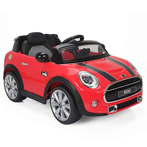 Happy Garden Voiture électrique Mini Cooper - Rouge