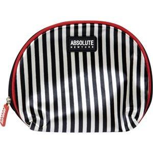 Absolue New York acb06 Trousse – Black et White Stripes Satin, pack de 1 (1 x 1 pièce)