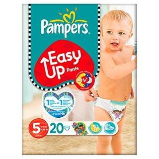 Pampers Nappies Easy Up Taille 5 (Junior) 11–25 kg/24–55lbs, 20 Nappies x Case