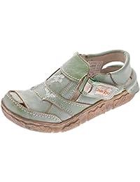 Mules femme-cuir-chaussures confort tMA 7668, bleu, blanc, style ancien, sandales femme