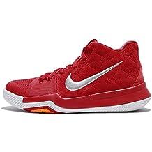 Nike niños Kyrie GS 3, Gris de Lobo Rojo Rojo/Universidad Universidad, Juventud
