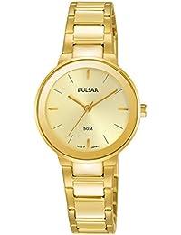 Pulsar Damen-Armbanduhr Analog Quarz Edelstahl beschichtet PH8288X1