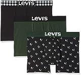 Levi's Herren Boxershorts Levis 200SF GIFTBOX Christmas Boxer Brief 3P, 3er Pack, Mehrfarbig (Dark Green Combo 602), Large