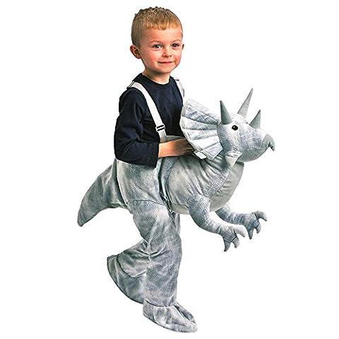 Enfants Dress Up Dinosaur (Triceratops-Grey) Costume Ages 3-7