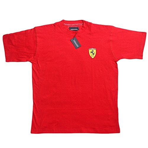 Ferrari Small Scud TSH PE08 Herren T-Shirt Scuderia Ferrari Formel 1 Team Tee F1 Rot Hemd Top Cotton -