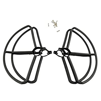 MagiDeal 4 Pieces Propeller Protect Guard Ring Frame for Hubsan H501S H501C Drone Parts Replacement DIY Black by MagiDeal