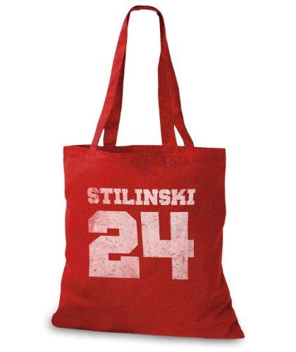 StyloBags Jutebeutel / Tasche Stilinski 24 vintage Style Rot