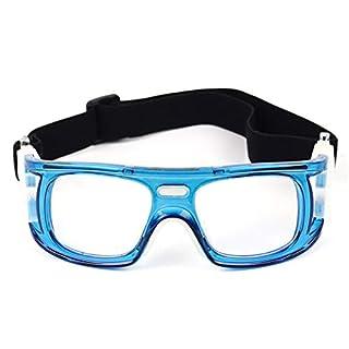 WYFDM Sportbrillen Brillen, Basketball Fußball Volleyball Anti-Fog und Anti-Schock tragbare Brille Outdoor Sportbrillen Unisex,Blue