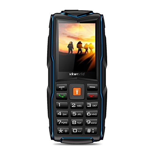 VKWorld New V3 Smartphone Débloqué(Trois Carte SIM - Étanche IP 68 -Anti-poussière - Dropproof - 2MP Caméra - 3000mAh Batterie) - Bleu