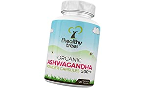 Organic Ashwagandha Capsules - 100% Natural Ayurvedic Adaptogenic Herb for Mind, Body and Spirit - Ashwagandha Root Powder Capsules by TheHealthyTree Company