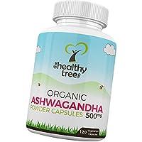 TheHealthyTree Company Cápsulas de Ashwagandha Orgánica con withanolides (5%) ...