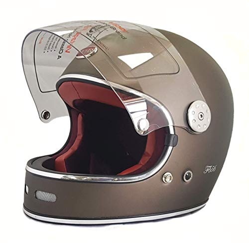 Viper F656 Vintage Rust Classic Matt Finish Casco Moto
