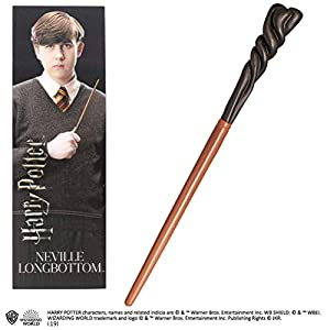 Noble Collection- Réplica Harry Potter Varita y Marcapáginas 3D Neville Longbottom, (NOB6320)