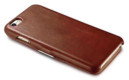 Lusso Custodia per Apple iPhone SE / 5S / 5 / 6S / 6 / 6S Plus / 6 / Case Parte esterna in vera pelle / dal tessile / custodia-protettiva lato pieghevole / ultra sottile Copertura - Marrone - marrone  Marrone - Braun - vintage mit Kartenfächern