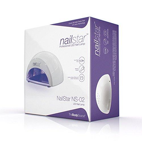 NailStar® Professioneller LED-Nageltrockner mit UV Nagellampe für Shellac und Gelnagellack Lichthärtegerät mit Timer, Tragbares Härtungsgerät für Maniküre, Aushärtungslampe für Fingernägel – weiß - 5