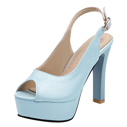 MissSaSa Donna Sottile col Tacco Alto Elegante e Pulite Azzurro