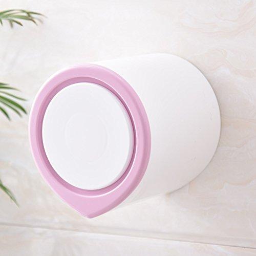 Toilettenpapierhalter,Gratis punsch saugnapf kunststoff toilettenpapierhalter,Kreative einfache wasserdichte feuchtigkeitsbeständig staubdicht bad küche rollenhalter-Lila