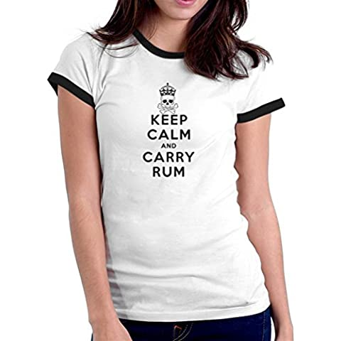 Maglietta Ringer da donna Keep calm and