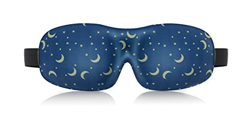 Lonfrote Star Moon Deep Molded Sleep Mask Super Soft foam Material lightweight & comfortable eye mask with ear plug and carry pouch (Blue)  available at amazon for Rs.2149