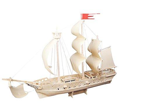 Etna Iława Kampfschiff 3D Holzbausatz Schiff Boot Holz Steckpuzzle Holzpuzzle Kinder P218